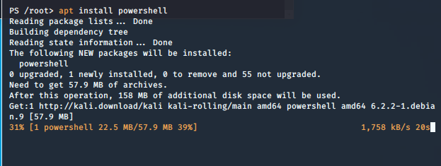 Kali-Linux now ships with PowerShell – first impressions